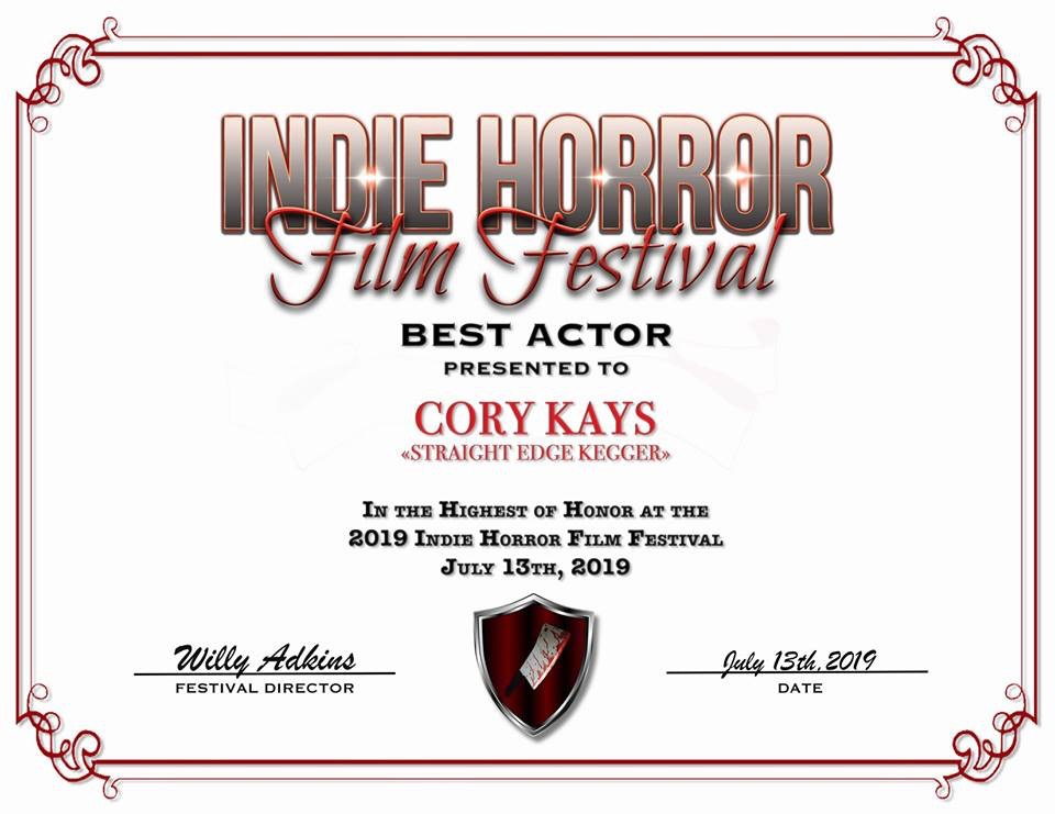 Cory Kays - Best actor award